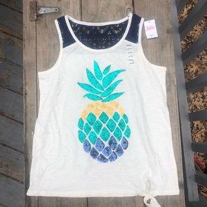 Justice Shirts & Tops - SOLDGirls Glitter Pineapple Tank